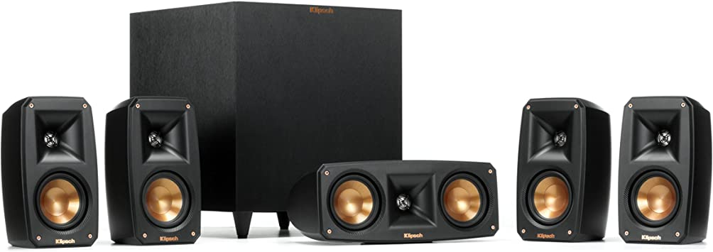 Amazon Com Klipsch Black Reference Theater Pack 5 1 Surround Sound System Electronics