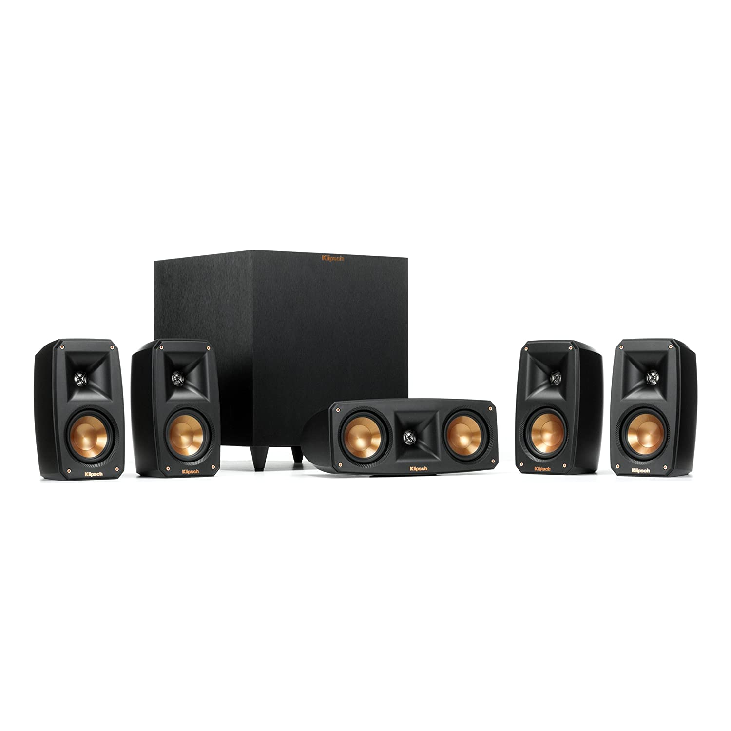 Klipsch Black Reference Theater Pack 5.1 Surround Sound System Tjernlund Products - Audio 1064177