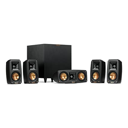 Klipsch Surround Sound >> Amazon Com Klipsch Black Reference Theater Pack 5 1 Surround Sound