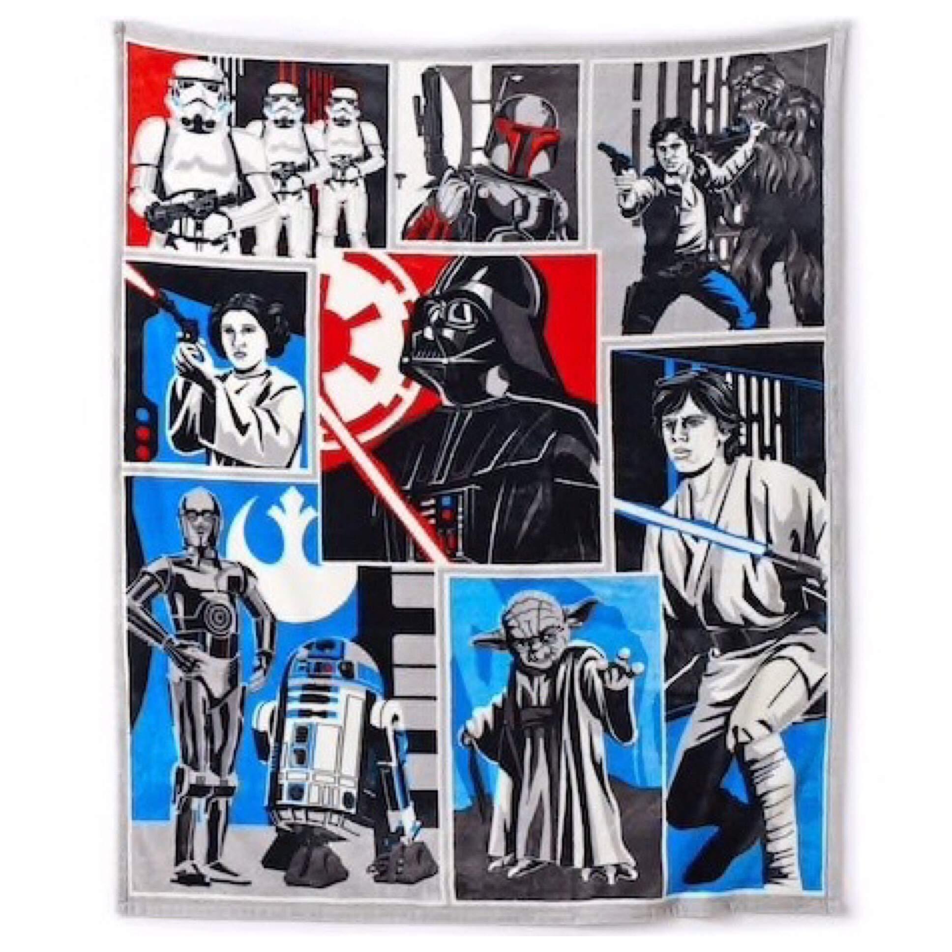 Star Wars Classic Plush Throw 50'' x 60'' by Star Wars