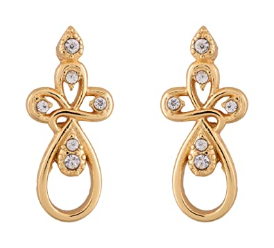 Buy Estelle Gold Plated Stud Earring Jewellery Set Earing In Golden Colour A D Stone Ladies Women Tops Jewelry Simple Small Light Ethnic Fancy Party Daily Wear Girls Stylish New Latest Design Ear Rings Low Price Gift For,Designer Leather Boots