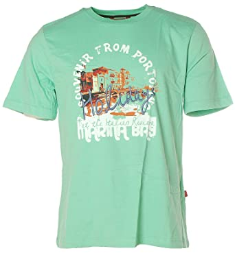 Signum Herren Kurzarm Shirt T-Shirt Rundhals Souvenir From Portofino  Holidays Mint L: Amazon.de: Bekleidung