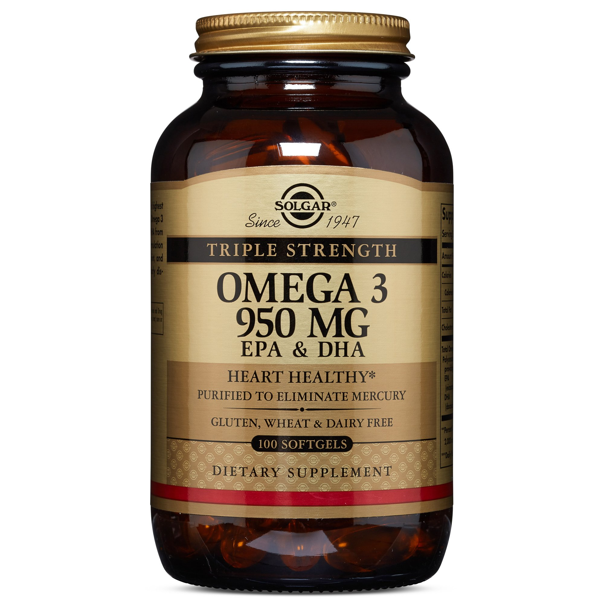 Solgar - Triple Strength Omega 3 EPA & DHA 950 Mg, 100 Softgels by Solgar