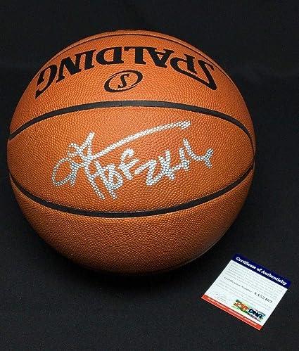 0cec6b79bd6 Allen Iverson Signed Authentic NBA Spalding Game Basketball quot HOF  2k16 quot  52463 - PSA