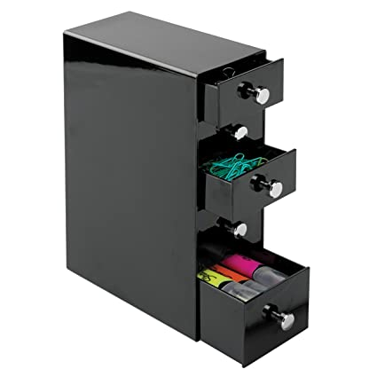 MDesign Office Supplies Desk Organizer For Paper Clips, Sticky Notes, Tape    5 Drawers