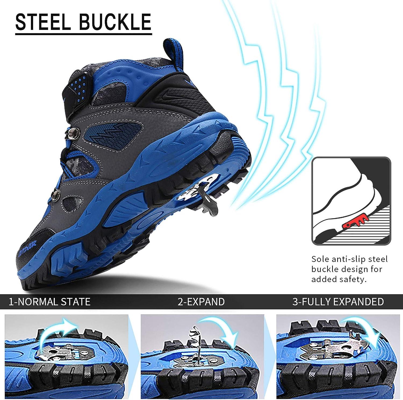 Lvptsh Scarpe da Trekking Bambino Scarpe da Escursionismo Bambini e Ragazzi Sneaker Bambine e Ragazze Antiscivolo Leggero 29-39