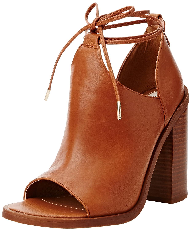 Windsor Smith Tiara Leather, Scarpe con Tacco a Punta Aperta Donna Marrone (Tan)