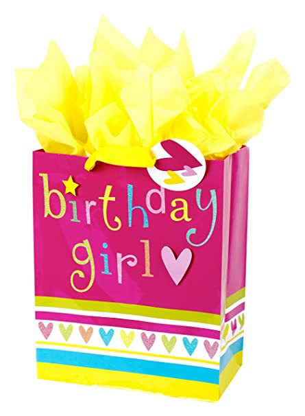 Hallmark Large Birthday Gift Bag With Tissue Paper Girl