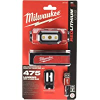 Milwaukee Electric Tools 2111-21 USB Rechargeable Headlamp, Red