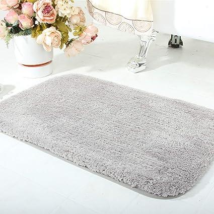 Amazoncom Wanzhan Luxury Gray Thick Small Bath Mats For Bathroom