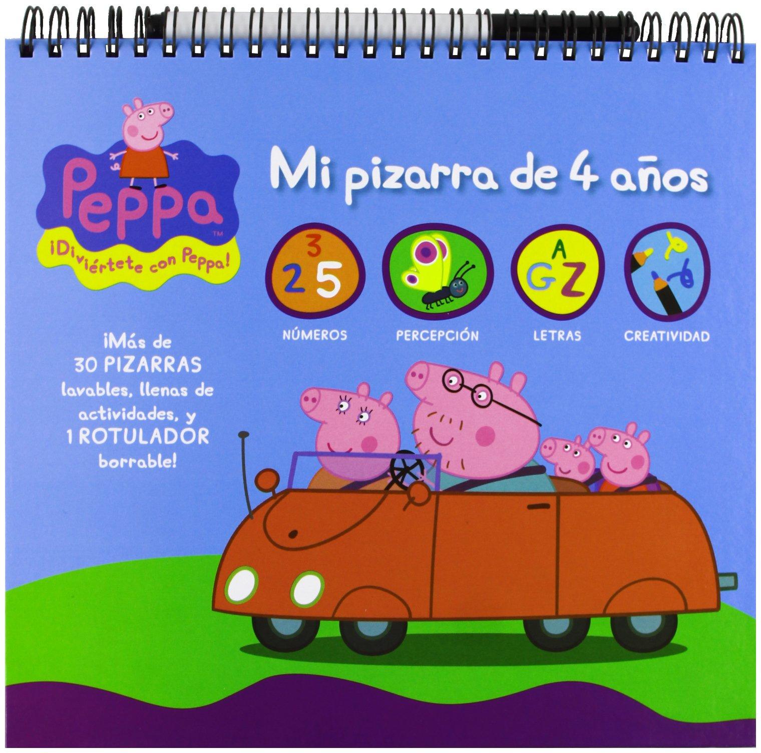 PEPPA PIG 4 AÑOS MI PIZARRA PARA JUGAR Y APRENDER: 9788415857303 ...