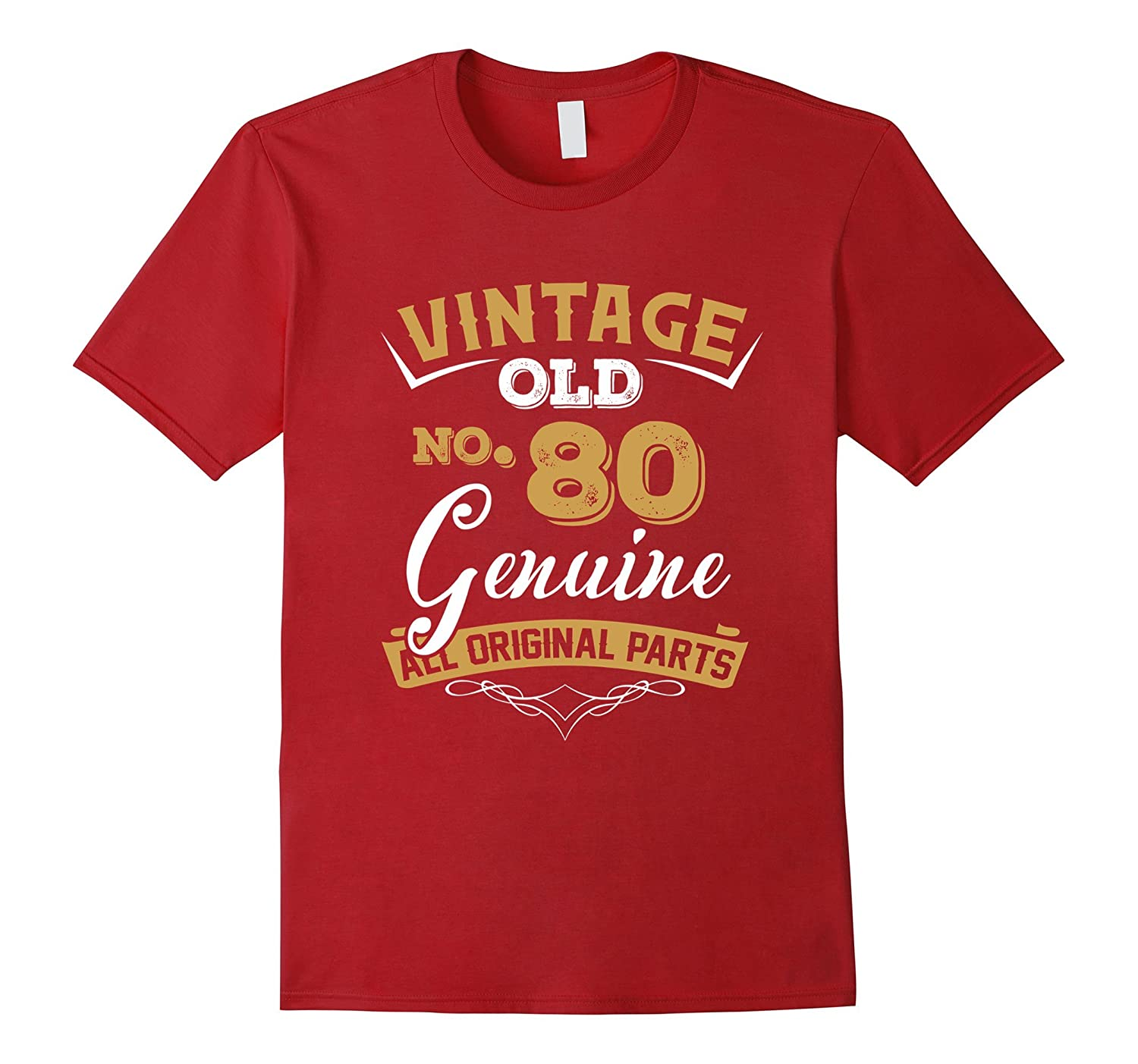 Vintage Born In 1937 80th Birthday T Shirt 80 Years Old PL