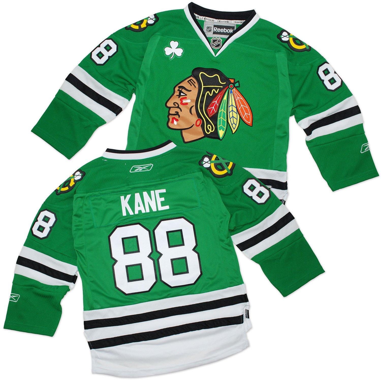 ... chic Patrick Kane Youth Jersey Reebok St. Patricks Day Green 88 Chicago  Blackhawks ... ebbb7c051