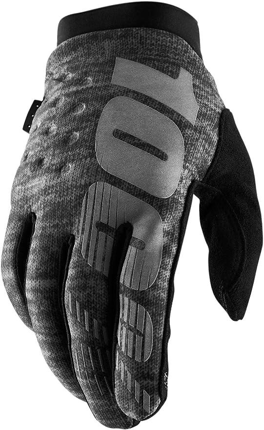 BRISKER Womens Gloves Black//Grey MD