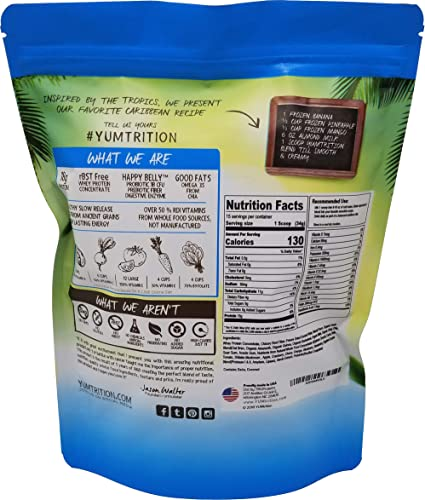 Yumtrition Meal Replacement Shakes Protein Powder Healthy Drink Supplement. Whey Plant. Low Carb Nutritional Smoothie Ideal for Weight Loss. Gluten Free. for Women Men. Caribbean. 15 Servings