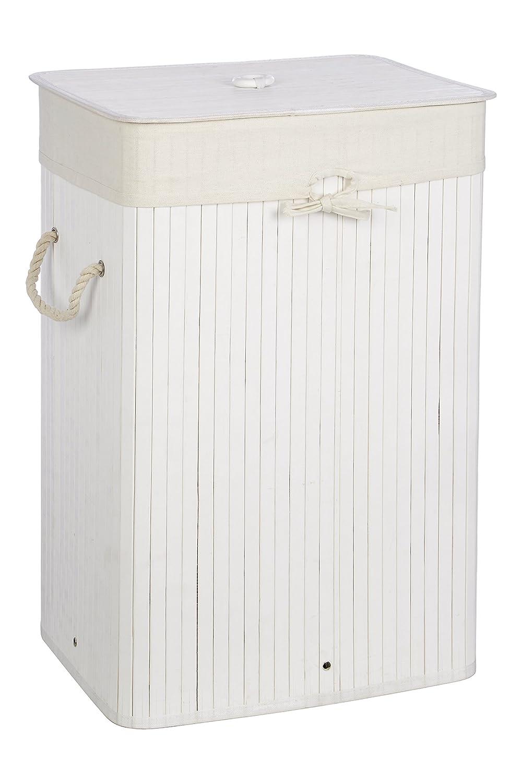 9036170557063 Premier Housewares Kankyo Laundry Hamper, Bamboo, White, 30 x 40 x ...