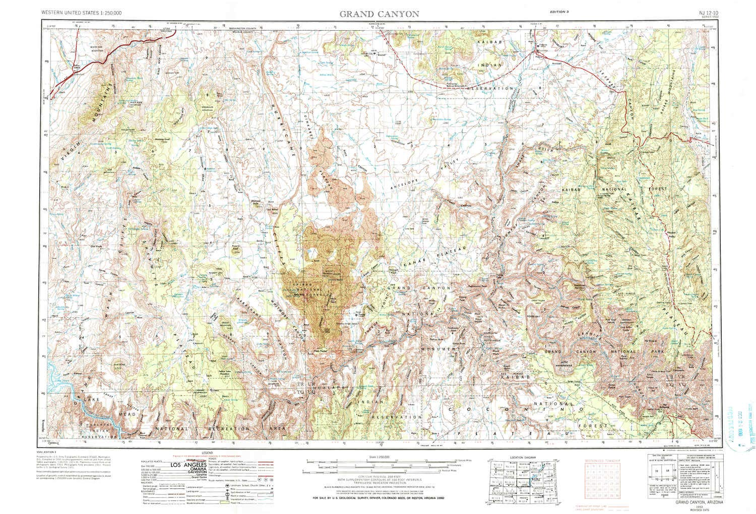 Amazon Com Yellowmaps Grand Canyon Az Topo Map 1 250000