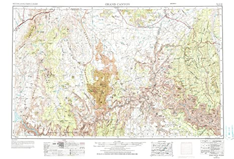 Amazon Com Yellowmaps Grand Canyon Az Topo Map 1 250000