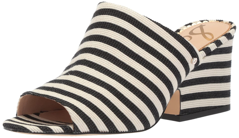Sam Edelman Women's Rheta Wedge Sandal B073DQLBTB 7 B(M) US|Black/Ivory