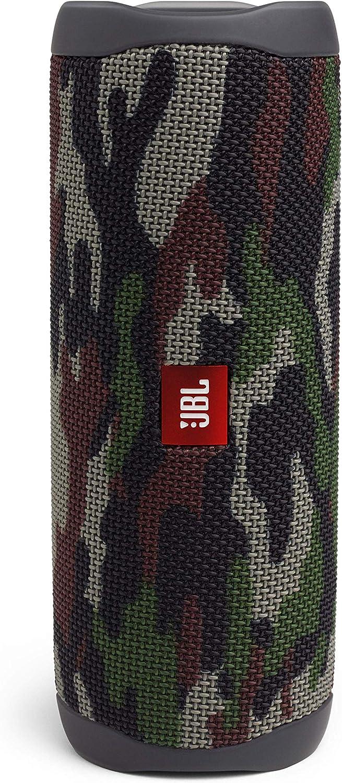 JBL Flip 5 - Altavoz inalámbrico portátil con Bluetooth, speaker resistente al agua (IPX7), JBL PartyBoost, hasta 12h de reproducción con sonido de calidad, camuflaje