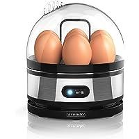 arendo - Cuiseur à Oeufs avec Fonction Maintien de la température - Egg Cooker - commutateur de Fonctions de basculement - degré de dureté réglable - Signal Acoustique - 400 W - 7 Oeufs - BPA-Free