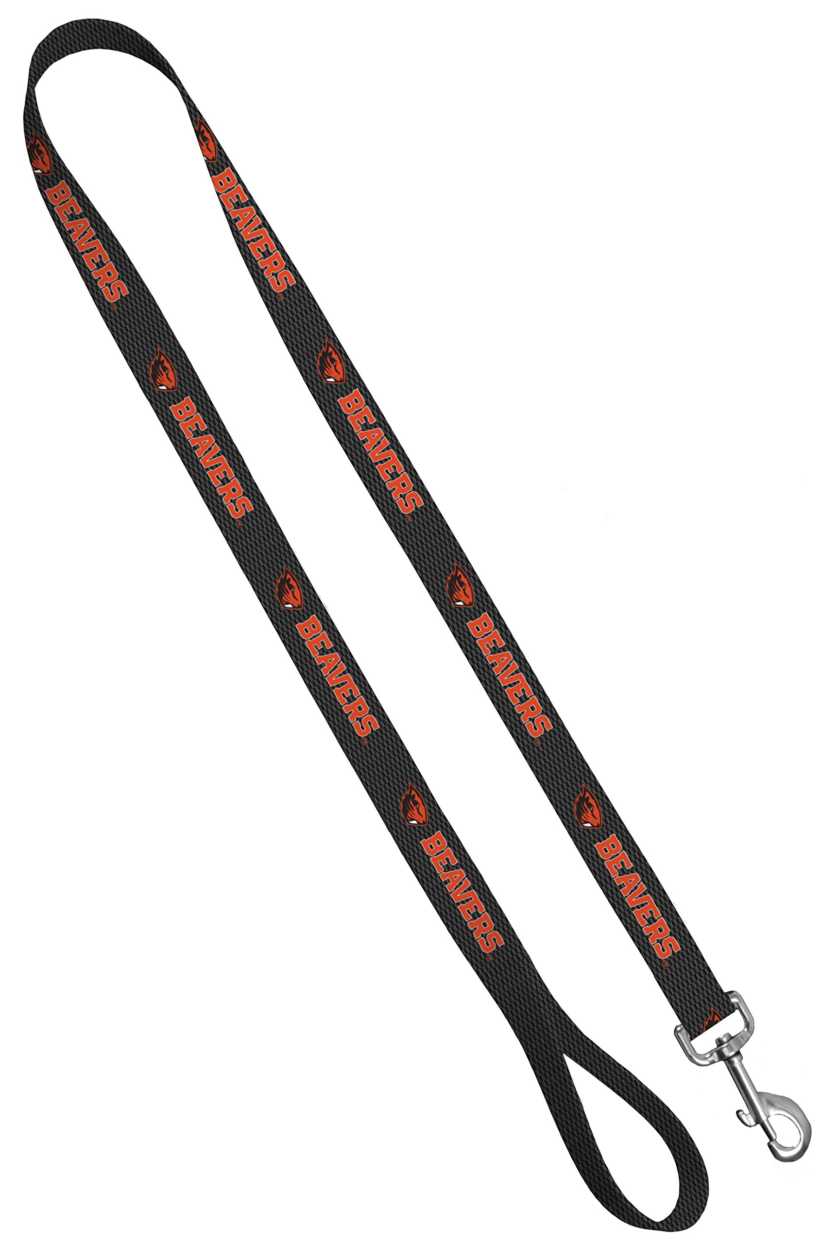 Moose Pet Wear Dog Leash - Oregon State University Beavers Pet Leash, Made in the USA - 1 Inch Wide x 6 Feet Long, Beaver on Carbon Fiber