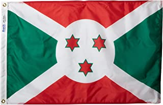 product image for Annin Flagmakers Model 191050 Burundi Flag Nylon SolarGuard NYL-Glo, 2x3 ft, 100% Made in USA to Official United Nations Design Specifications