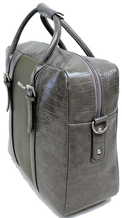 13dcf7332af29 Damen Aktentasche auf Räder Business Umhänge Trolley Grau mit Grün Bowatex   Amazon.de  Koffer