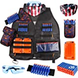 Kids Tactical Vest Kit for Nerf Guns N-Strike Elite Series with Refill Darts Dart Pouch