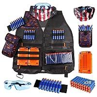 Kids Tactical Vest Kit for Nerf Guns N-Strike Elite Series with Refill Darts Dart...