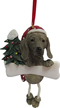 Amazon Com Weimaraner Ornament With Unique Dangling Legs Hand Painted And Easily Personalized Christmas Ornament Pet Supplies