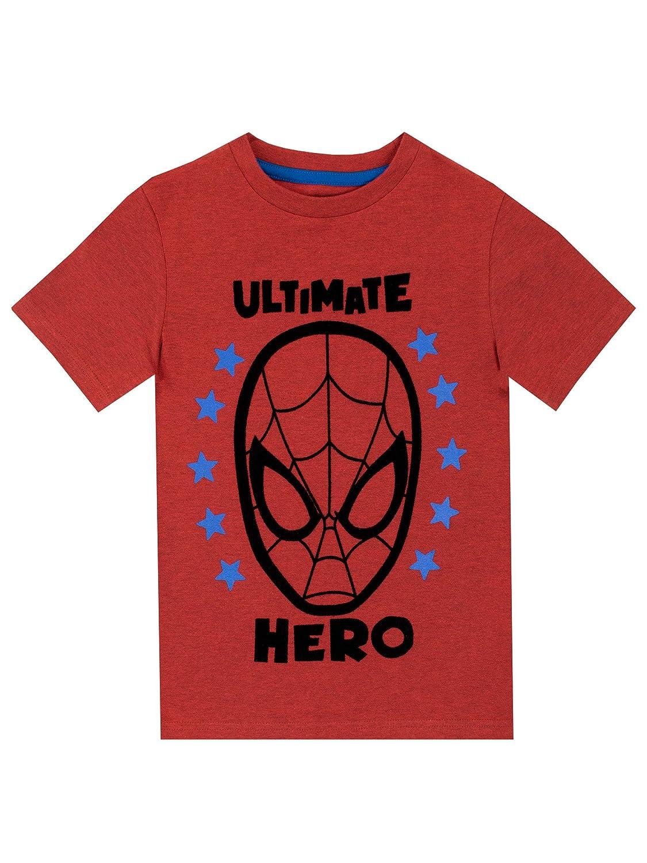 Marvel Maglietta Maniche Corta per Ragazzi Spiderman