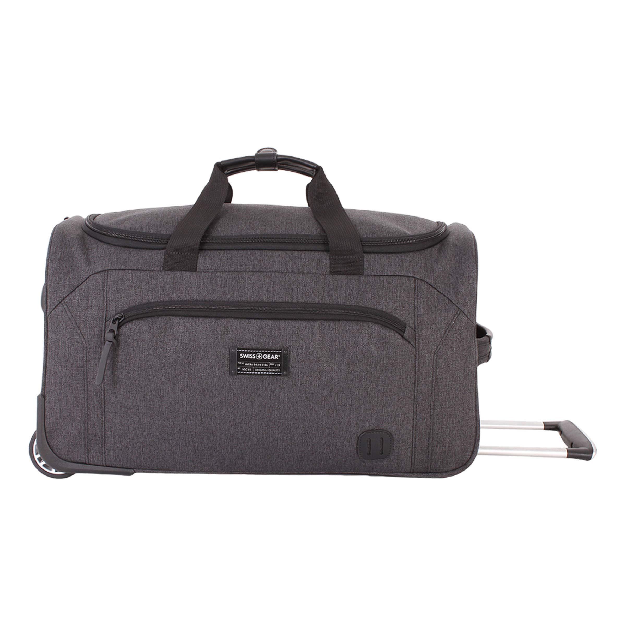 SWISSGEAR Getaway Weekend Wheeled 19-inch Duffel Bag   Rolling Travel Luggage   Men's and Women's - Dark Gray