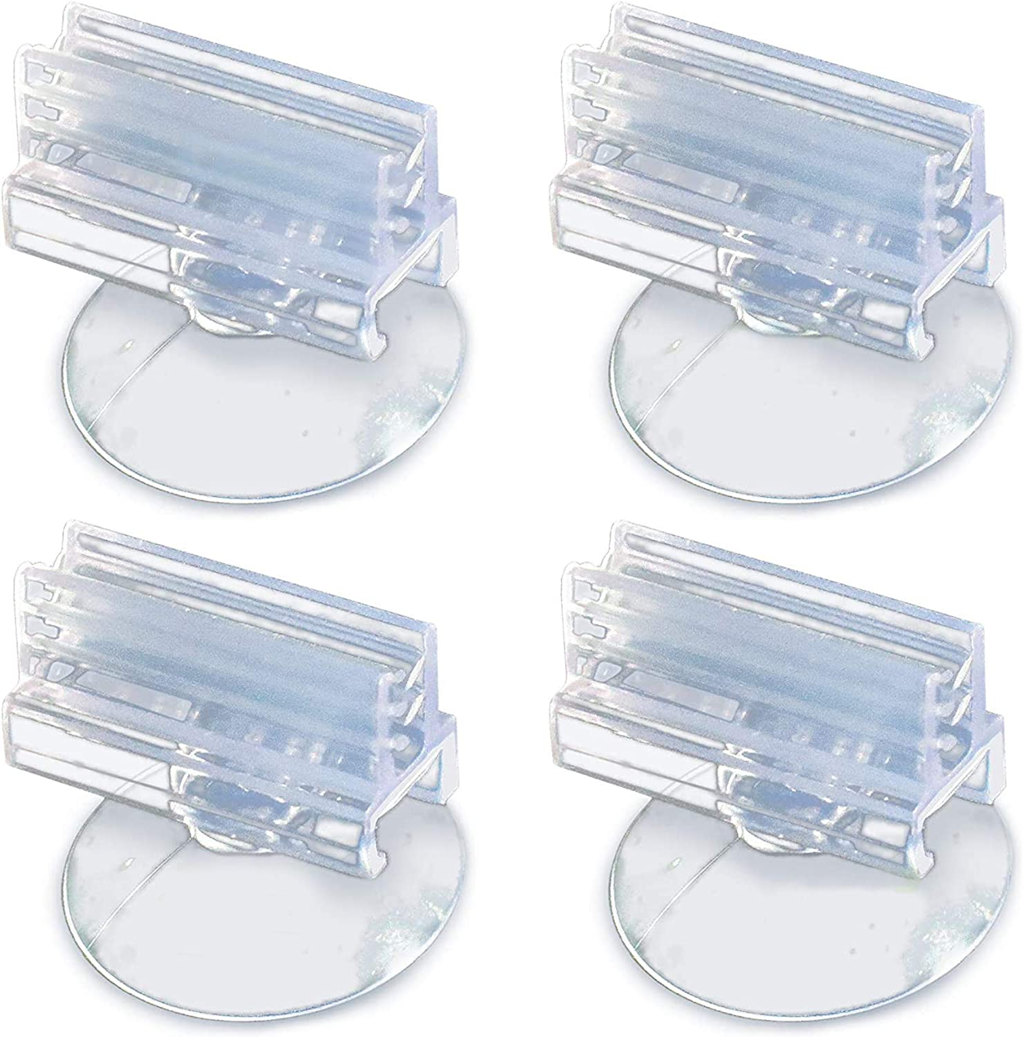 JOR Betta Bed Suction Cups, Transparent Color, Soft Tooth Clip That Firmly Holds Aquarium Hammock, Functions as Feeder with No Effect on Live Plants & Animals, 4 pcs. per Pack