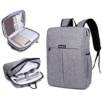 Garybank Waterproof Laptop Backpack For Women Men Both Top Loader And Panel Slim Business