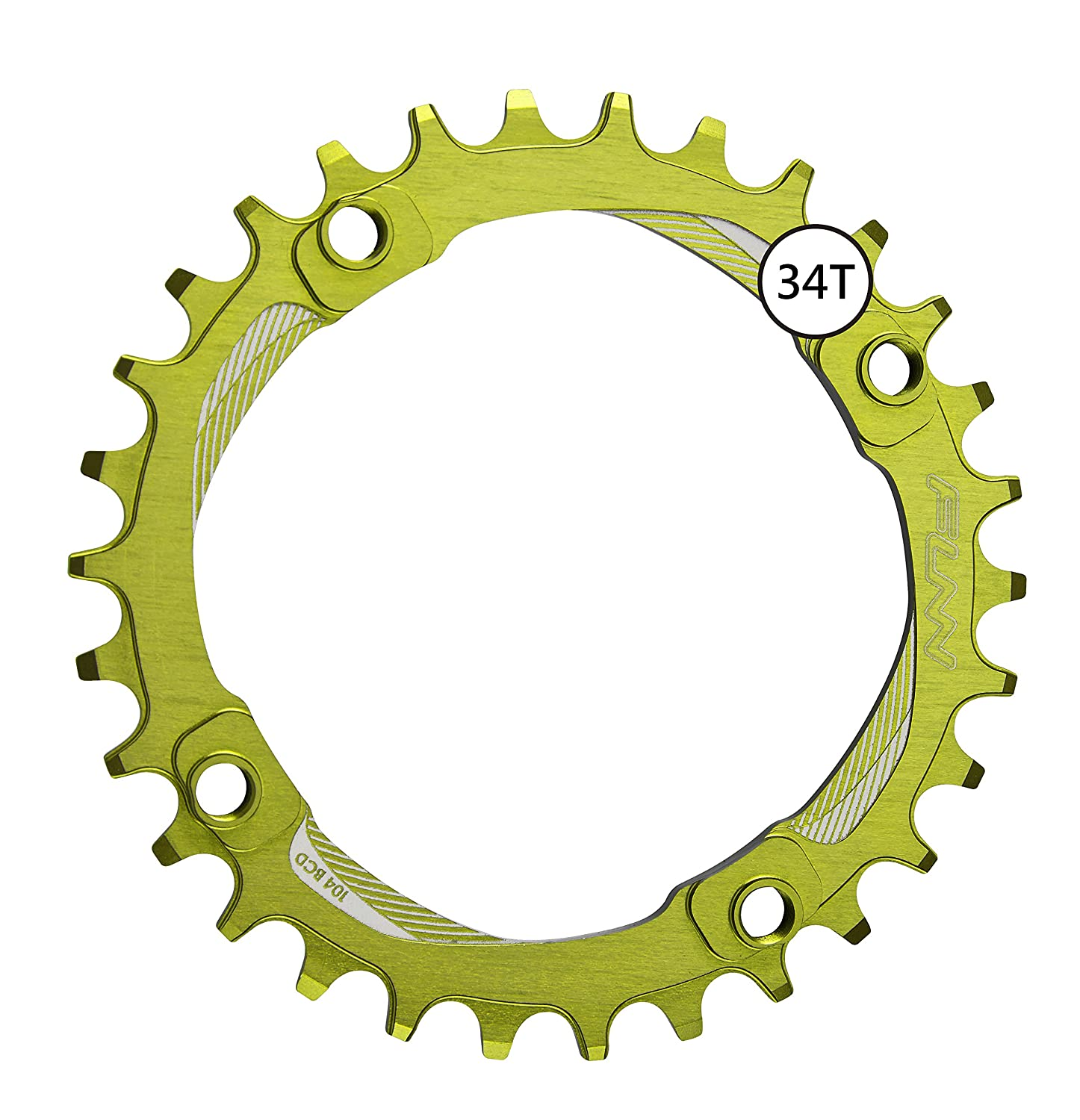 FunnソロNarrow Wide Chainring 34t B076P8LVWH ワサビ(Wasabi) ワサビ(Wasabi)