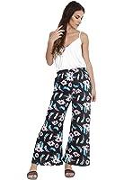 WearAll - Grande taille floral imprimé pantalons jambe large palazzo - Pantalons - Femmes - Tailles 44 à 54