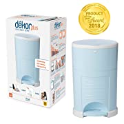 Dekor Plus Hands-Free Diaper Pail | Easiest to Use | Just Step – Drop – Done | Doesn't Absorb Odors | 20 Second Bag Change | Most Economical Refill System |Great for Cloth Diapers | Soft Blue