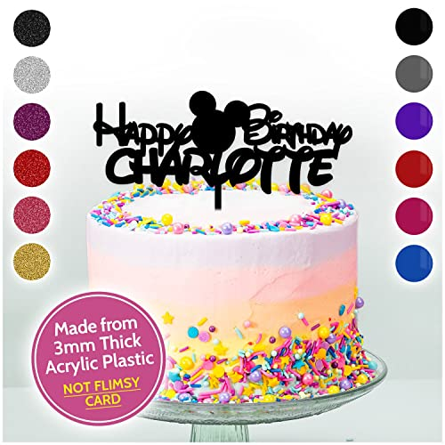 Disney Mickey Mouse Personalised Cake Topper Acrylic Birthday Cake