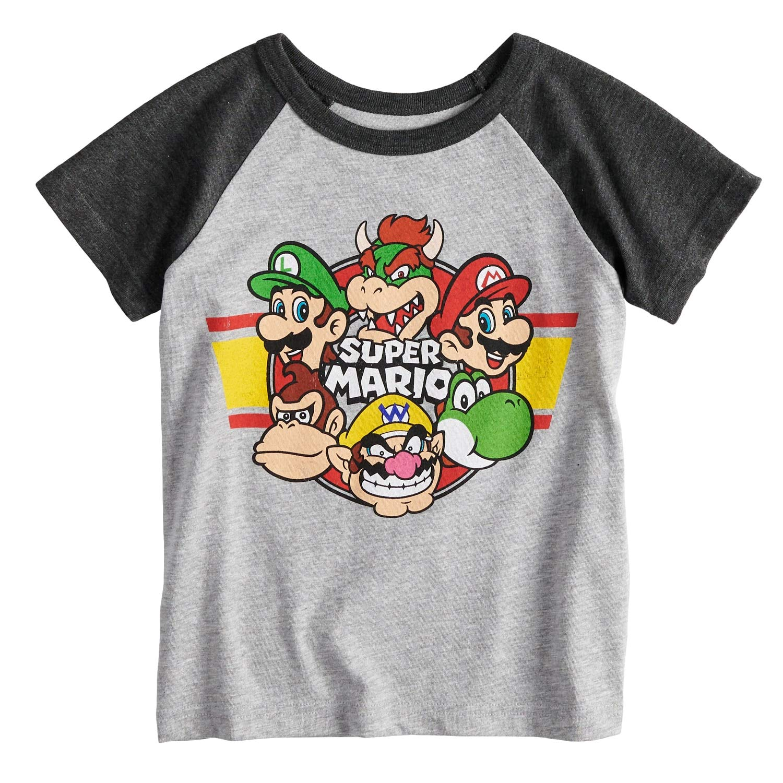 Jumping Beans Toddler Boys 2T-5T Super Mario Bros. Raglan Graphic Tee