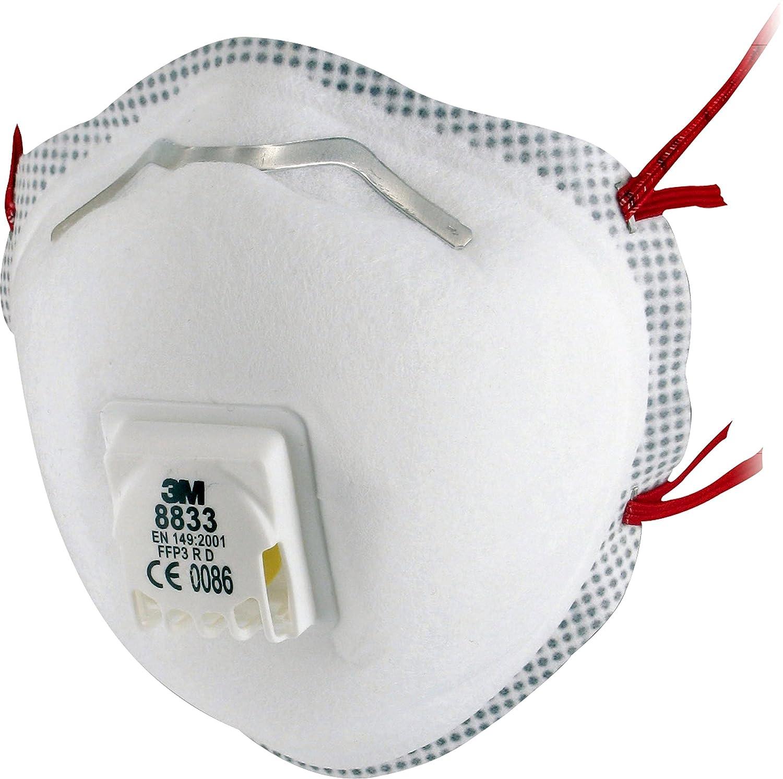 3M 8833 Einweg-Atemschutzmaske, FFP3, mit Ventil, 10 Stü ck