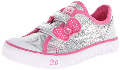 Keds Hello Kitty I Heart Kitty H&L Sneaker (Toddler/Little Kid),Silver,5 M US Toddler