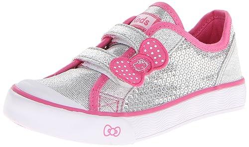 Keds Hello Kitty I Heart Kitty H&L Sneaker (Toddler/Little Kid),Silver,5 M US Toddler