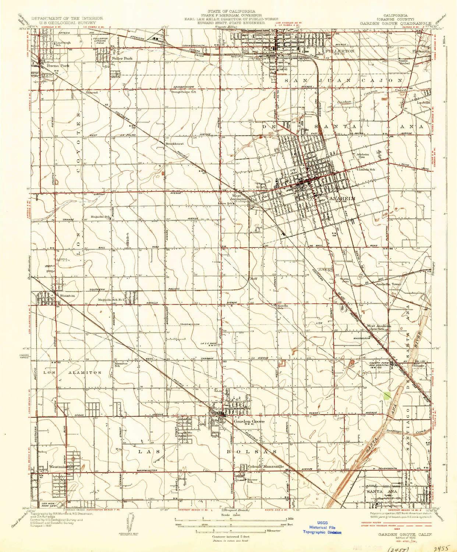 Orange Grove California Map.Amazon Com Yellowmaps Garden Grove Ca Topo Map 1 31680 Scale 7 5