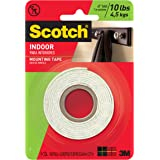 Scotch Indoor Mounting Tape 1-in X 50-in, White, Holds up to 10 lbs, 1-Roll