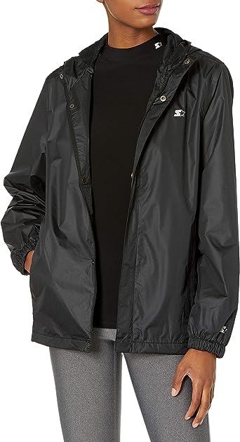 Woman modelling black waterproof jacket