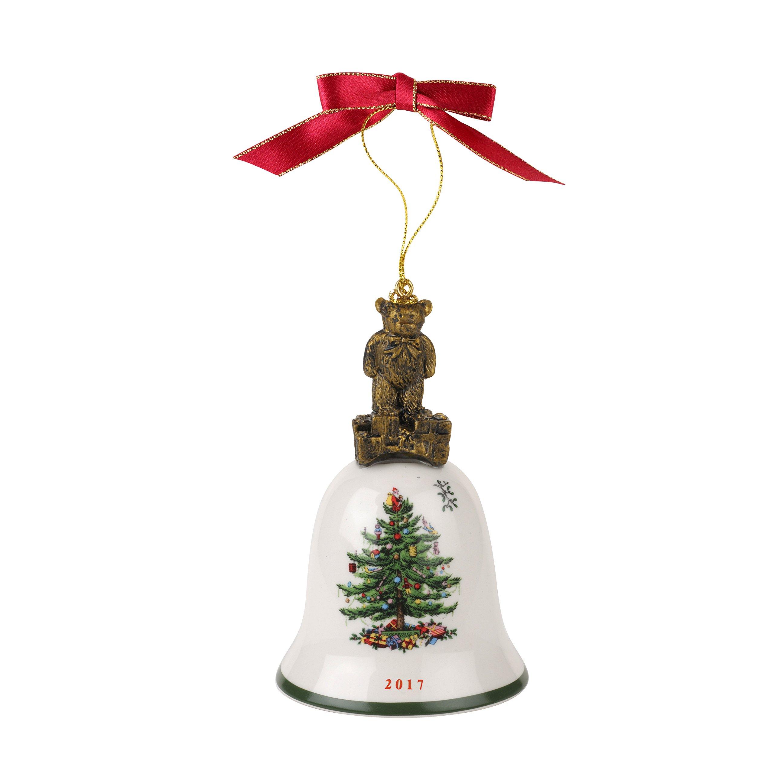 Spode Christmas Tree Annual Edition Ornament, Teddy Bear on Bell