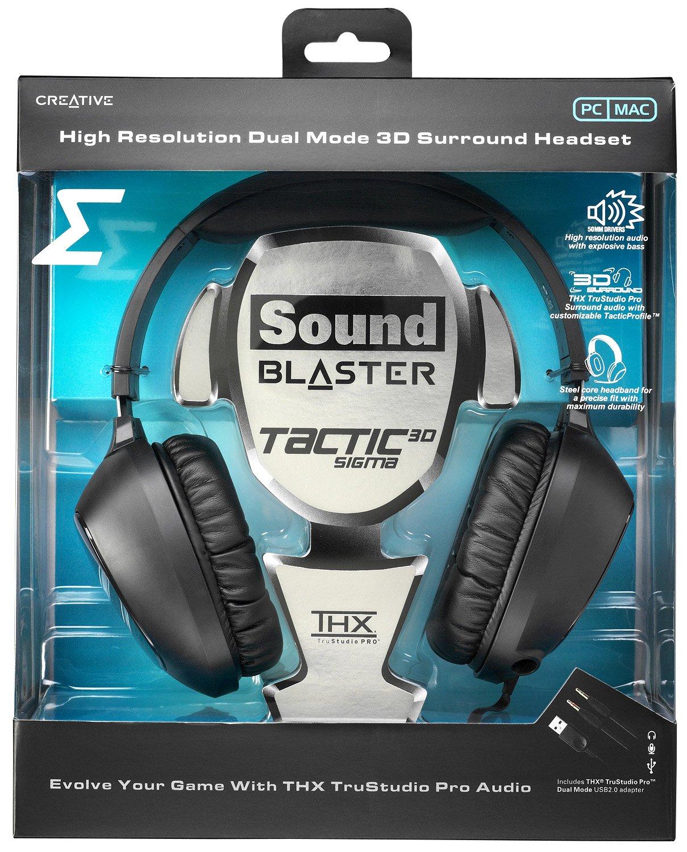Creative Labs SB Tactic 3D Sigma Negro auricular con micrófono ...