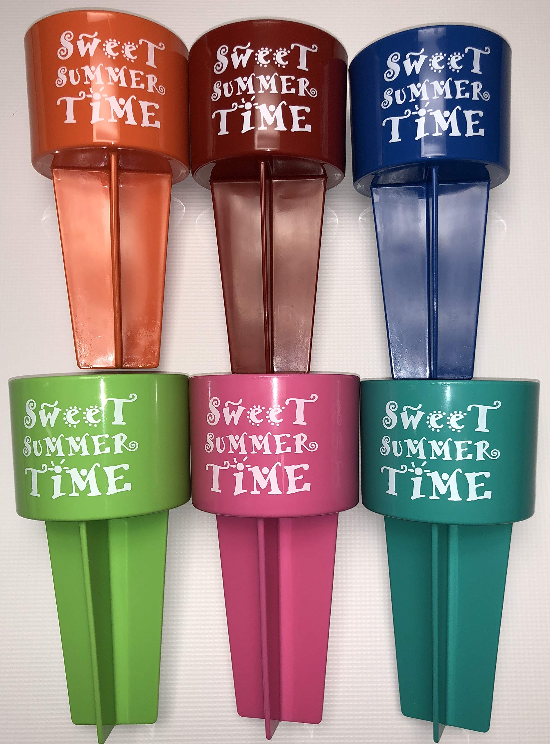 SPIKER SST6 sweetsummertime beach cup holder, One, 6 assorted colors