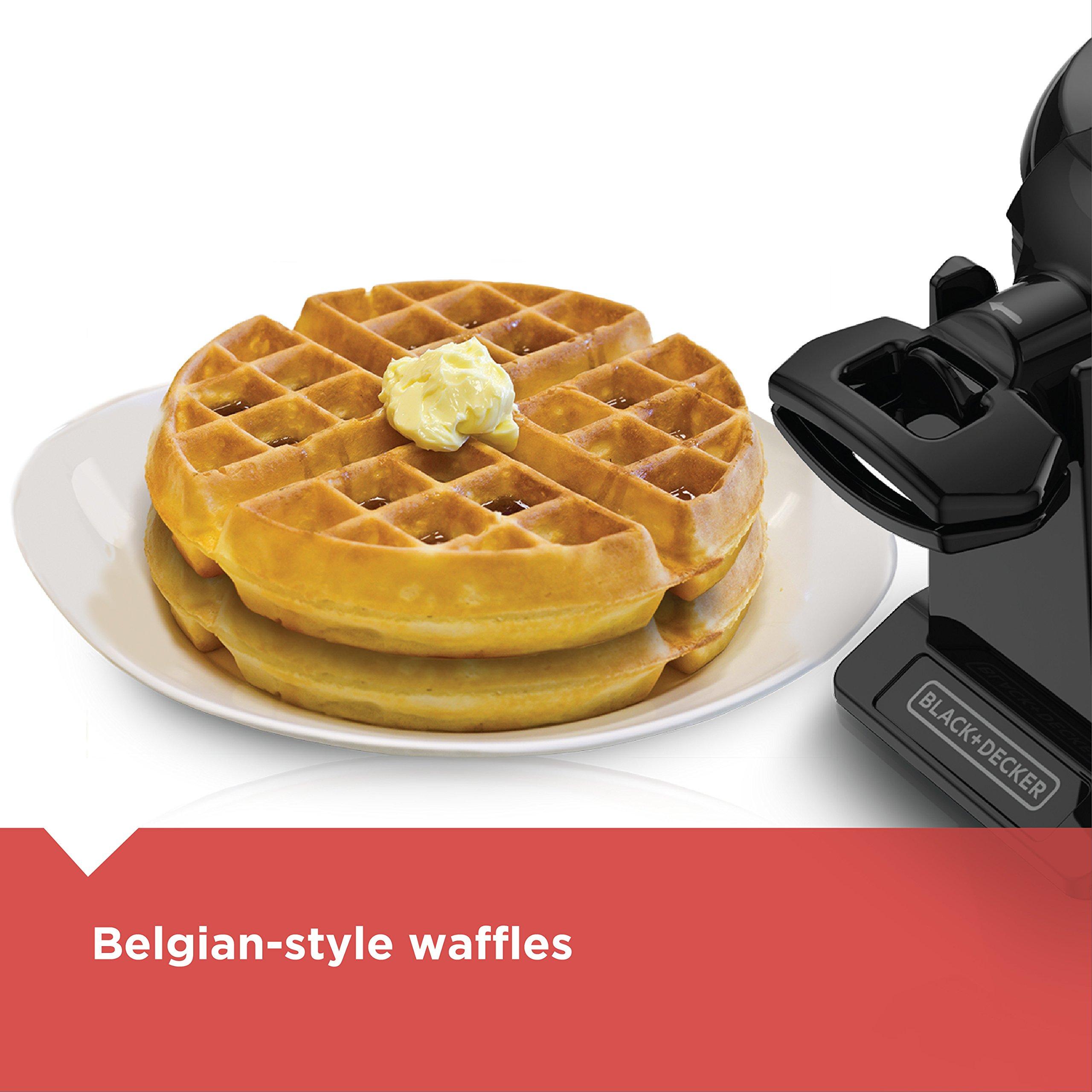 BLACK+DECKER Rotating Waffle Maker, Black, WMD200B by BLACK+DECKER (Image #6)